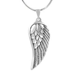 Journee Sterling Silver Angel Wing Necklace