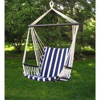 deluxe bahama hanging hammock sky swing chair sunnydaze portable hand woven 2 person mayan hammock   free      rh   overstock