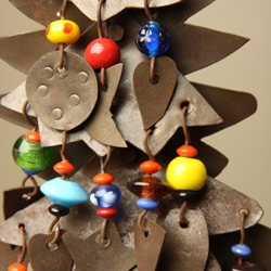 Iron and Copper Christmas Tree Bell Chime (India)