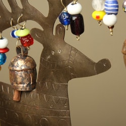 Iron and Copper Reindeer Bell Chime (India)