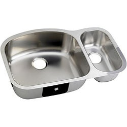 DeNovo Double-basin D-shaped Steel Kitchen Sinks (Case of 26)