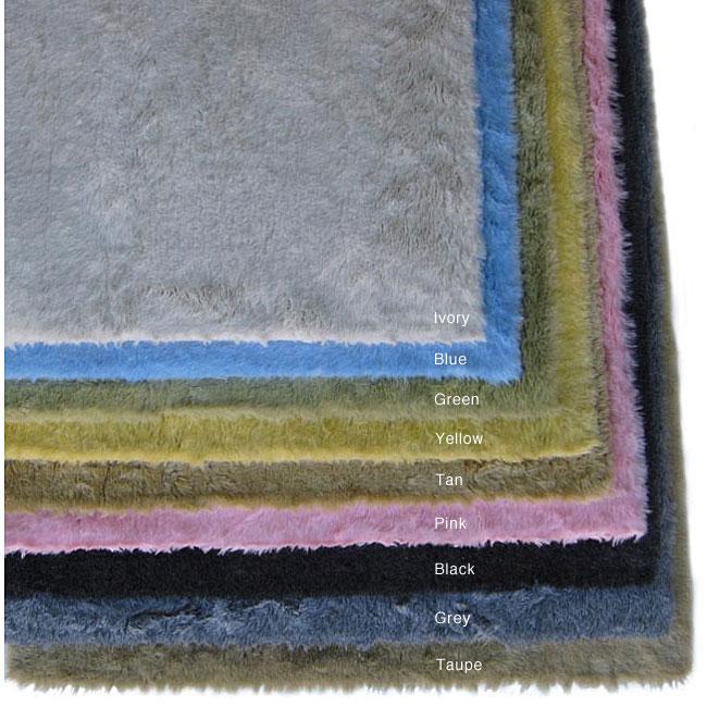 Shop Ohno Kanecaron Faux Fur Rug (2' X 4')