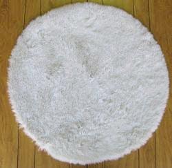 ohno kanecaron faux fur rug 3u0027 round thumbnail