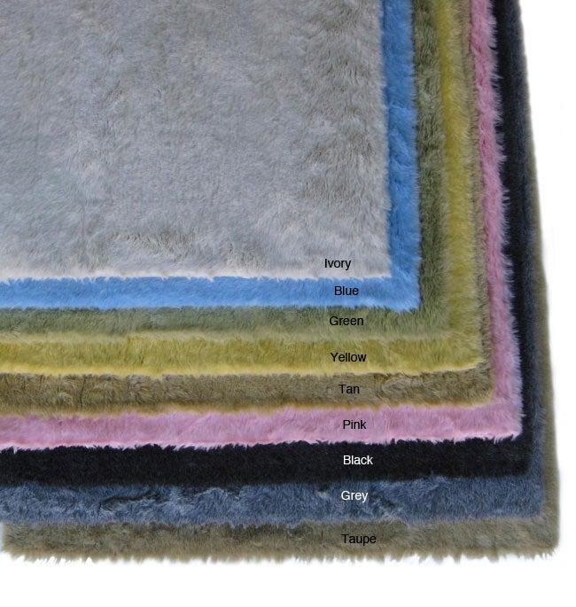 Ohno Kanecaron Faux Fur Rug (3' x 5') - 3' x 5'