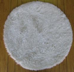 Ohno Kanecaron Faux Fur Rug (6' Round) - Thumbnail 1