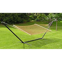 Extra-large 2-person Brown Rope Cotton Hammock Set