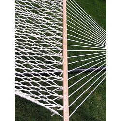 Extra-large 2-person White Rope Cotton Hammock - Thumbnail 1