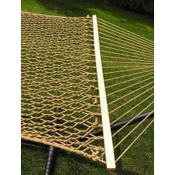 Extra-large 2-person Brown Rope Cotton Hammock - Thumbnail 1