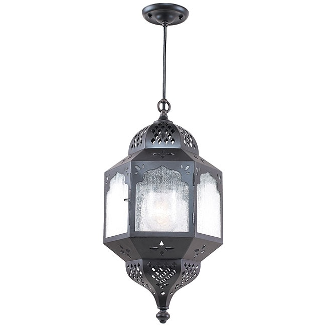 Indoor/ Outdoor 1-light Bronze Pendant