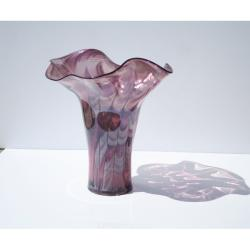 Hand-blown Purple Passion Glass Vase - Thumbnail 1