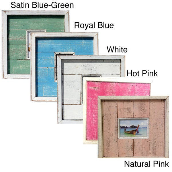 Handmade Recycled Wood 4x6-inch Picture Frame (Thailand)