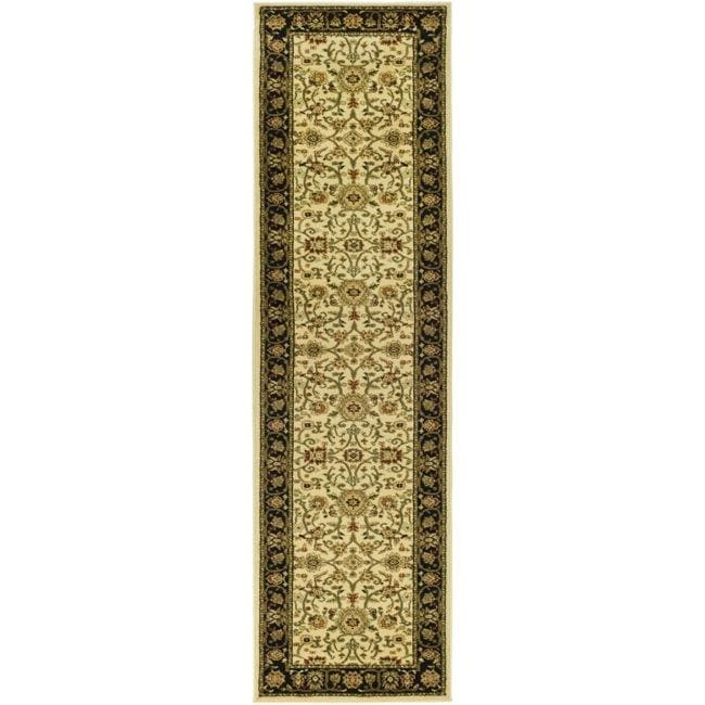 Lyndhurst Collection Majestic Ivory/ Black Runner (23 X 6)