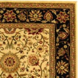 Safavieh Lyndhurst Traditional Oriental Ivory/ Black Rug (9' x 12')