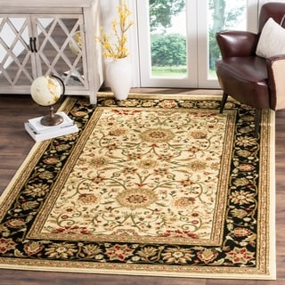 Safavieh Lyndhurst Traditional Oriental Ivory/ Black Rug (8' 11 x 12' RECTANGLE)