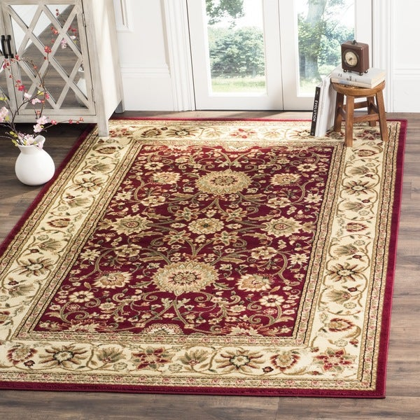 Safavieh Lyndhurst Traditional Oriental Red Ivory Rug 8