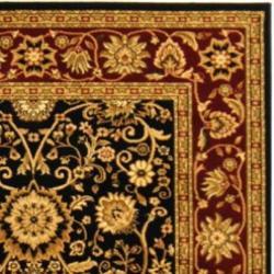 Safavieh Lyndhurst Traditional Oriental Black/ Red Rug (9' x 12')