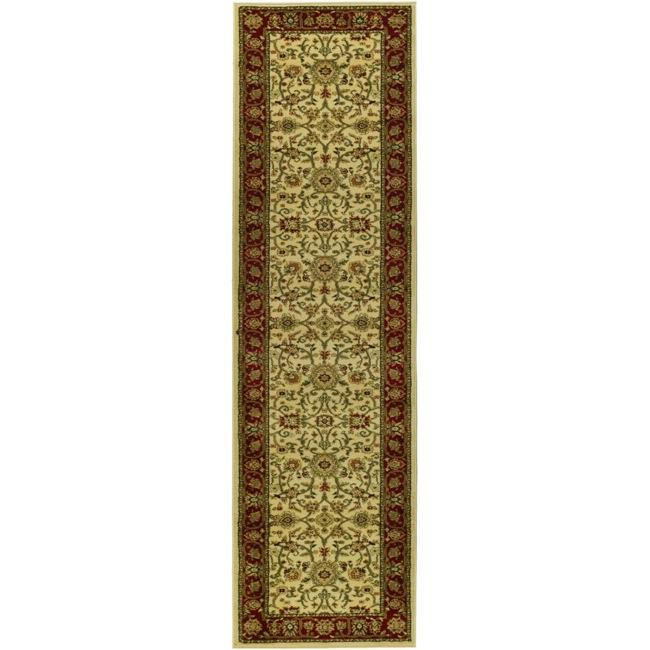 "Safavieh Lyndhurst Traditional Oriental Ivory/ Red Runner Rug - 2'3"" x 6'"