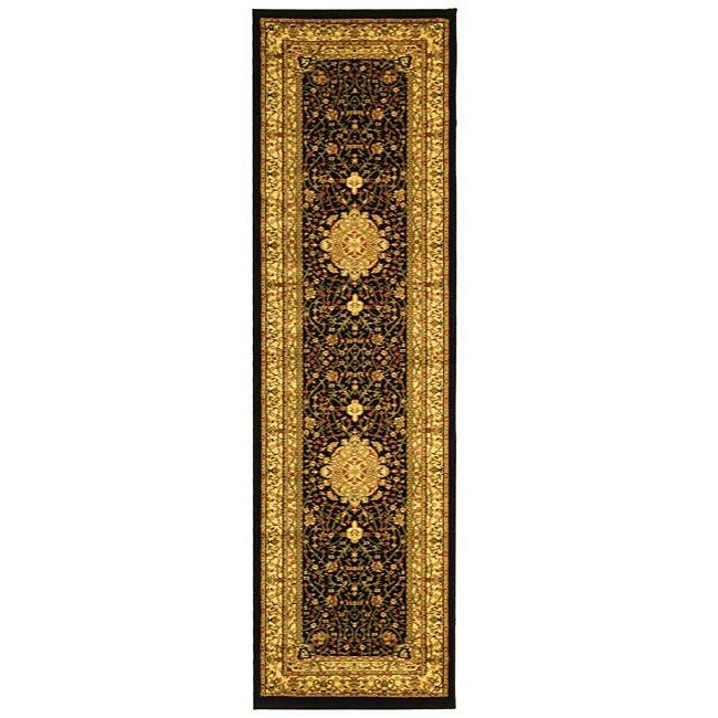 Safavieh Lyndhurst Traditional Oriental Black/ Ivory Runner Rug - 2'3 x 6'