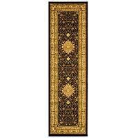 Safavieh Lyndhurst Traditional Oriental Black/ Ivory Runner (2'3 x 6')