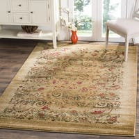 "Safavieh Lyndhurst Collection Paisley Beige/ Multi Rug - 5'3"" x 7'6"""