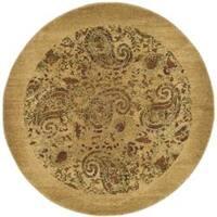 Safavieh Lyndhurst Traditional Paisley Beige/ Multi Rug (5' 3 x 5' 3 Round) - 5' 3 x 5' 3 round