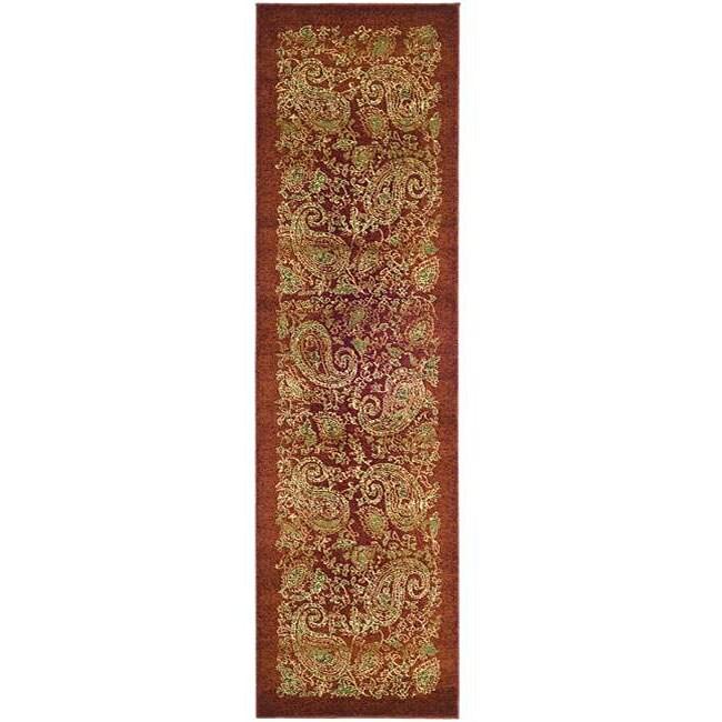 Safavieh Lyndhurst Traditional Paisley Red/ Multi Runner (2'3 x 12')
