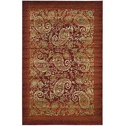 Safavieh Lyndhurst Traditional Paisley Red/ Multi Rug (5' 3 x 7' 6)