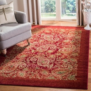 Safavieh Lyndhurst Traditional Paisley Red/ Multi Rug (5' 3 x 7' 6)