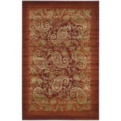 Safavieh Lyndhurst Traditional Paisley Red/ Multi Rug (6' x 9')