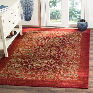 Safavieh Lyndhurst Traditional Paisley Red/ Multi Rug (8' x 11')