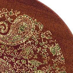 Safavieh Lyndhurst Traditional Paisley Red/ Multi Rug (8' Round) - Thumbnail 1