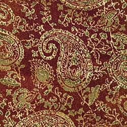 Safavieh Lyndhurst Traditional Paisley Red/ Multi Rug (8' Round) - Thumbnail 2