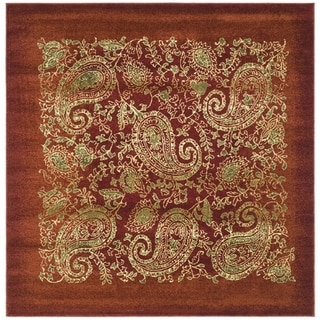 Safavieh Lyndhurst Traditional Paisley Red/ Multi Rug (8' x 8' Square)