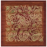 Safavieh Lyndhurst Traditional Paisley Red/ Multi Rug - 8' x 8' Square