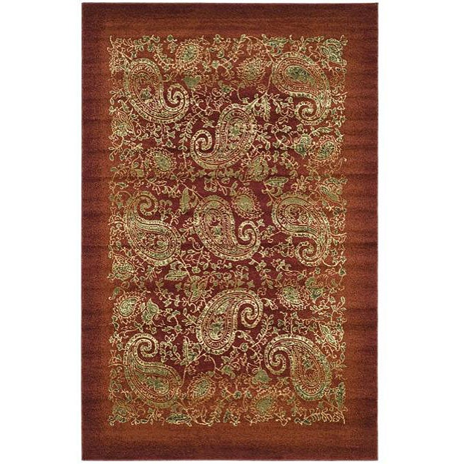 Safavieh Lyndhurst Traditional Paisley Red/ Multi Rug (9' x 12')