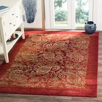 Safavieh Lyndhurst Traditional Paisley Red/ Multi Rug - 9' x 12'