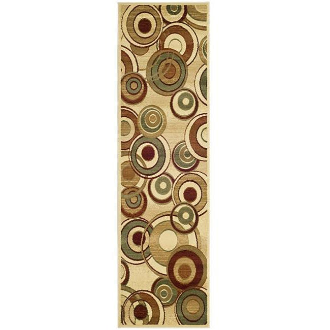 Safavieh Lyndhurst Contemporary Ivory/ Multi Runner (2'3 x 8')