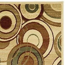 Safavieh Lyndhurst Contemporary Ivory/ Multi Runner (2'3 x 8') - Thumbnail 1