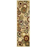 "Safavieh Lyndhurst Contemporary Ivory/ Multi Runner - 2'3"" x 8'"