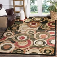 "Safavieh Lyndhurst Contemporary Black/ Green Rug - 3'3 x 5'3/3'3"" x 5'3"""