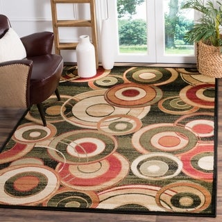 Safavieh Lyndhurst Contemporary Black/ Green Rug (6' x 9')