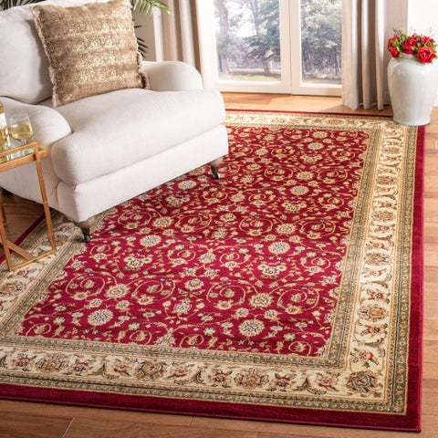 Safavieh Lyndhurst Traditional Oriental Red/ Ivory Rug - 6' x 6' Square