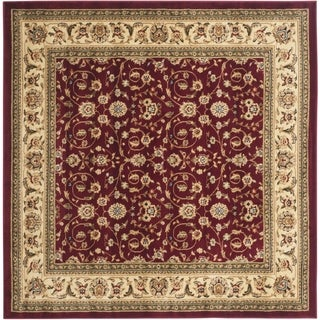 Safavieh Lyndhurst Traditional Oriental Burgundy/ Ivory Rug (8' Square)