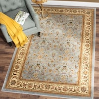 Safavieh Lyndhurst Traditional Oriental Light Blue/ Ivory Rug - 8' x 8' Square