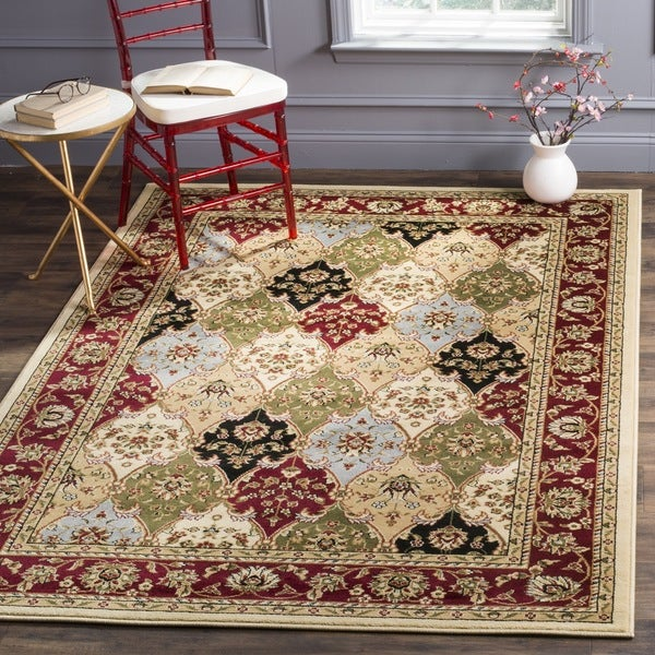 Safavieh Lyndhurst Traditional Oriental Multicolor/ Red Rug - 6' x 6' Square