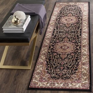 Safavieh Lyndhurst Traditional Oriental Black/ Ivory Runner (2' 3 x 16')