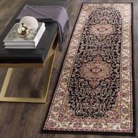 "Safavieh Lyndhurst Traditional Oriental Black/ Ivory Runner Rug - 2'3 x 6'/2'3"" x 6'"