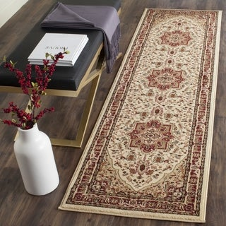 "Safavieh Lyndhurst Traditional Oriental Ivory/ Red Runner (2'3"" x 16')"