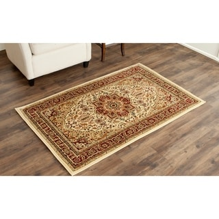 Safavieh Lyndhurst Traditional Oriental Ivory/ Red Area Rug (4' x 6')