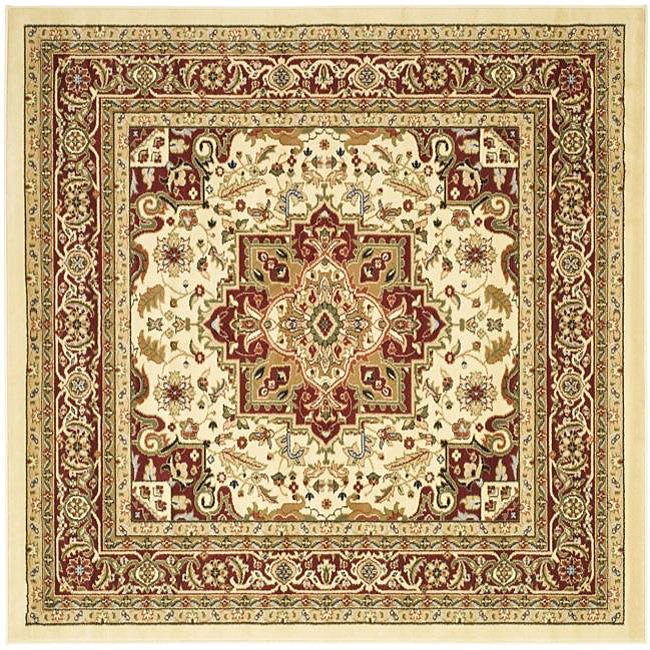 Safavieh Lyndhurst Traditional Oriental Ivory/ Red Rug (6' Square)